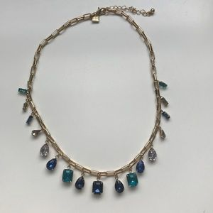 Banana Republic - Blue & Gold Statement Necklace